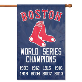 Boston Red Sox Championship Premium Banner Flag