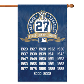 New York Yankees Championship Premium Banner Flag