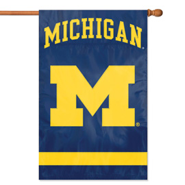 Michigan Wolverines Premium Banner Flag