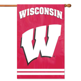 Wisconsin Badgers Premium Banner Flag