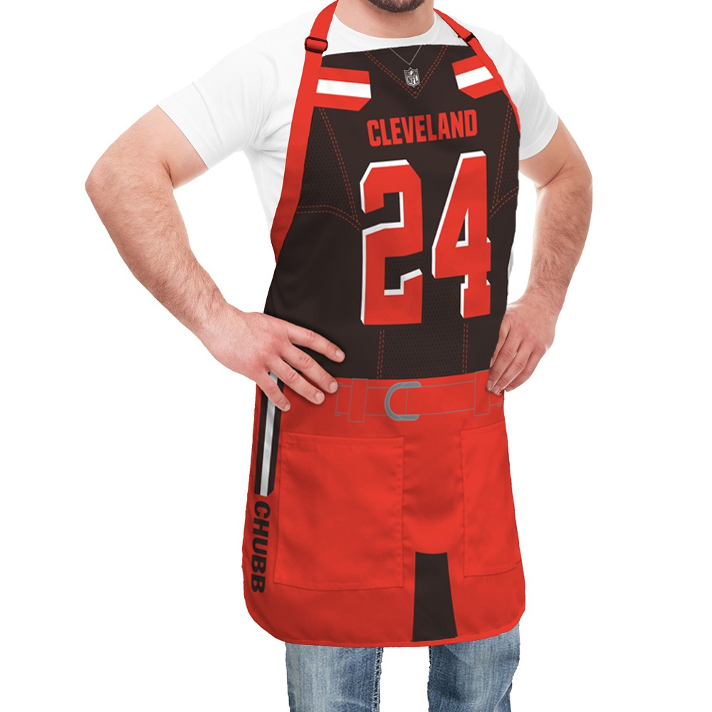 super popular d6f54 eb705 Cleveland Browns NFL Player Jersey Apron - Nick Chubb