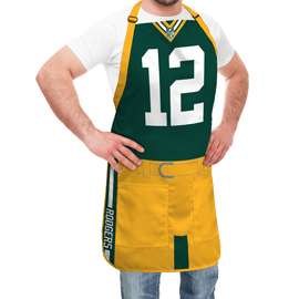 Green Bay Packers NFL Player Jersey Apron - Aaron Rodgers
