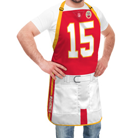 Kansas City Chiefs NFL Player Jersey Apron - Patrick Mahomes