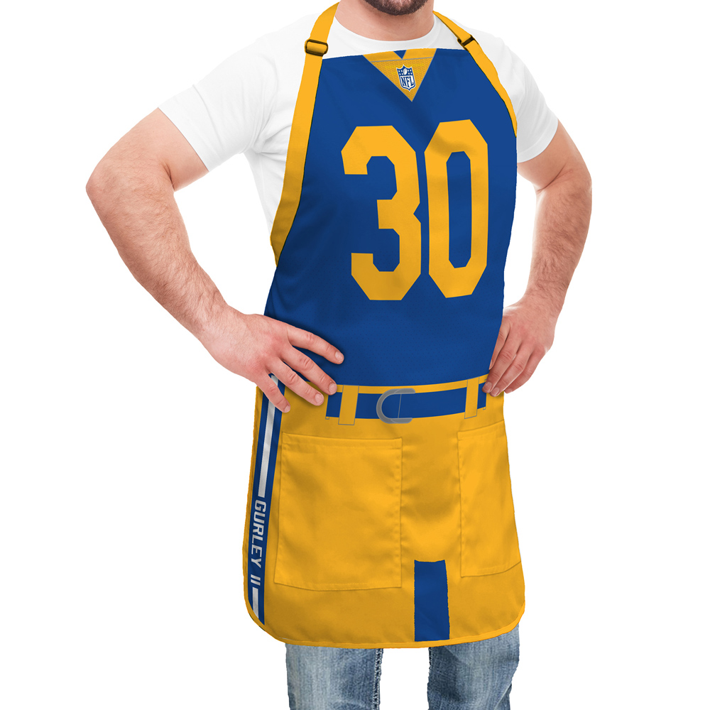 super cute e82aa b4338 Los Angeles Rams NFL Player Jersey Apron - Todd Gurley
