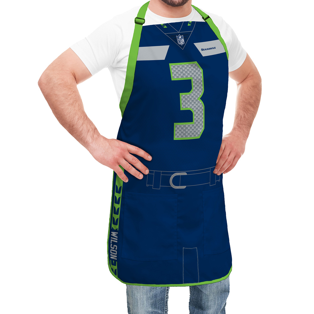 new concept 7f7bb 79dcb Seattle Seahawks NFL Player Jersey Apron - Russell Wilson