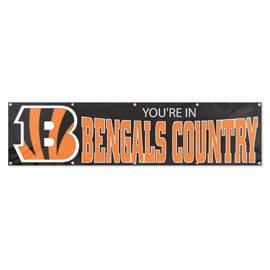 Cincinnati Bengals Giant 8' x 2' Banner Country