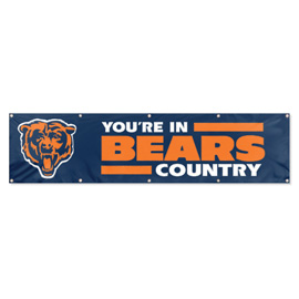 Chicago Bears Giant 8' x 2' Banner