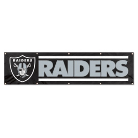 Oakland Raiders Giant 8' x 2' Banner