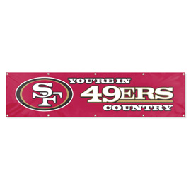 San Francisco 49ers Giant 8' x 2' Banner