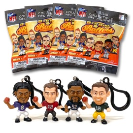 Big Shot Baller MiniFig NFL Series 1 4-Pack Bundle