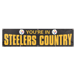 Pittsburgh Steelers Giant 8' x 2' Banner Black