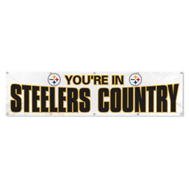 Pittsburgh Steelers Giant 8' x 2' Banner White