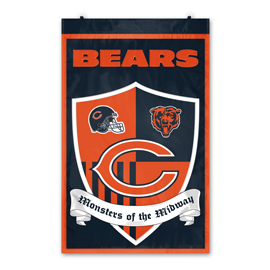 Chicago Bears Shield Banner