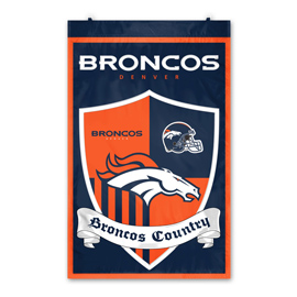 Denver Broncos Shield Banner