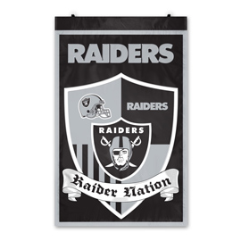 Las Vegas Raiders Shield Banner