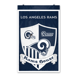 Los Angeles Rams Shield Banner