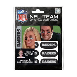 Las Vegas Raiders Face Decorations