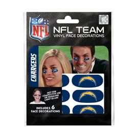 Los Angeles Chargers Eye Black Strips