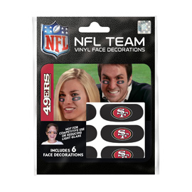 San Francisco 49ers Eye Black Strips