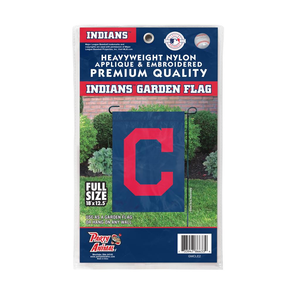 The Party Animal Premium Garden Flag Cleveland Indians Premium Garden Flag