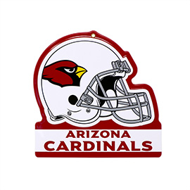 Arizona Cardinals Metal Helmet Sign