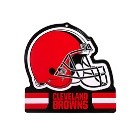 Cleveland Browns Metal Helmet Sign