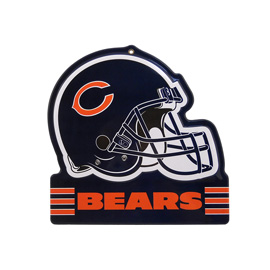Chicago Bears Metal Helmet Sign