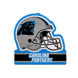 Carolina Panthers Metal Helmet Sign