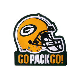 Green Bay Packers Metal Helmet Sign