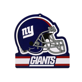 New York Giants Metal Helmet Sign