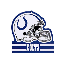 Indianapolis Colts Metal Helmet Sign