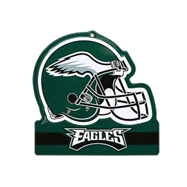 Philadelphia Eagles Metal Helmet Sign