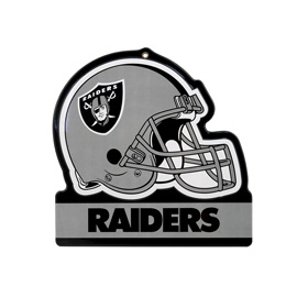 Oakland Raiders Metal Helmet Sign