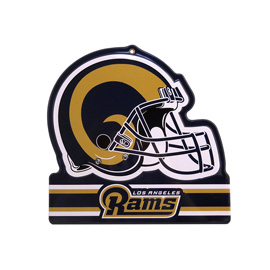 Los Angeles Rams Metal Helmet Sign