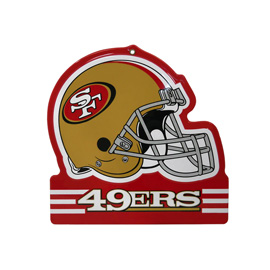 San Francisco 49ers Metal Helmet Sign