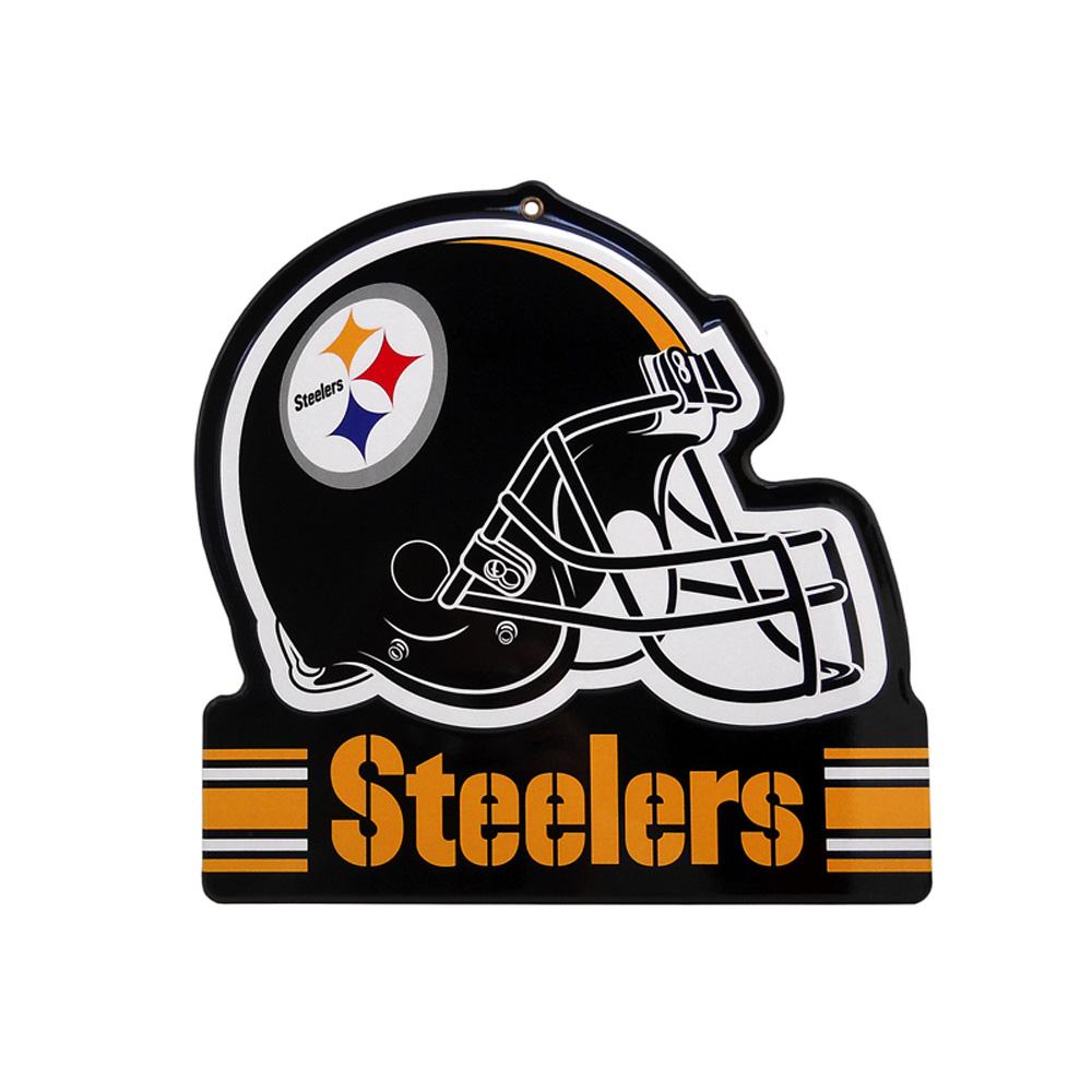 Pittsburgh Steelers Metal Helmet Sign