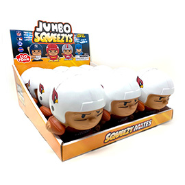 Arizona Cardinals Jumbo Squeezy 12pc Display