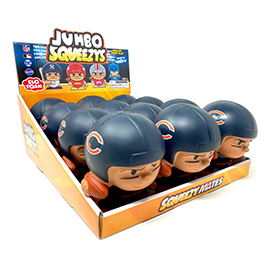 Chicago Bears Jumbo Squeezy 12pc Display
