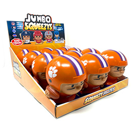 Clemson Jumbo Squeezy 12pc Display