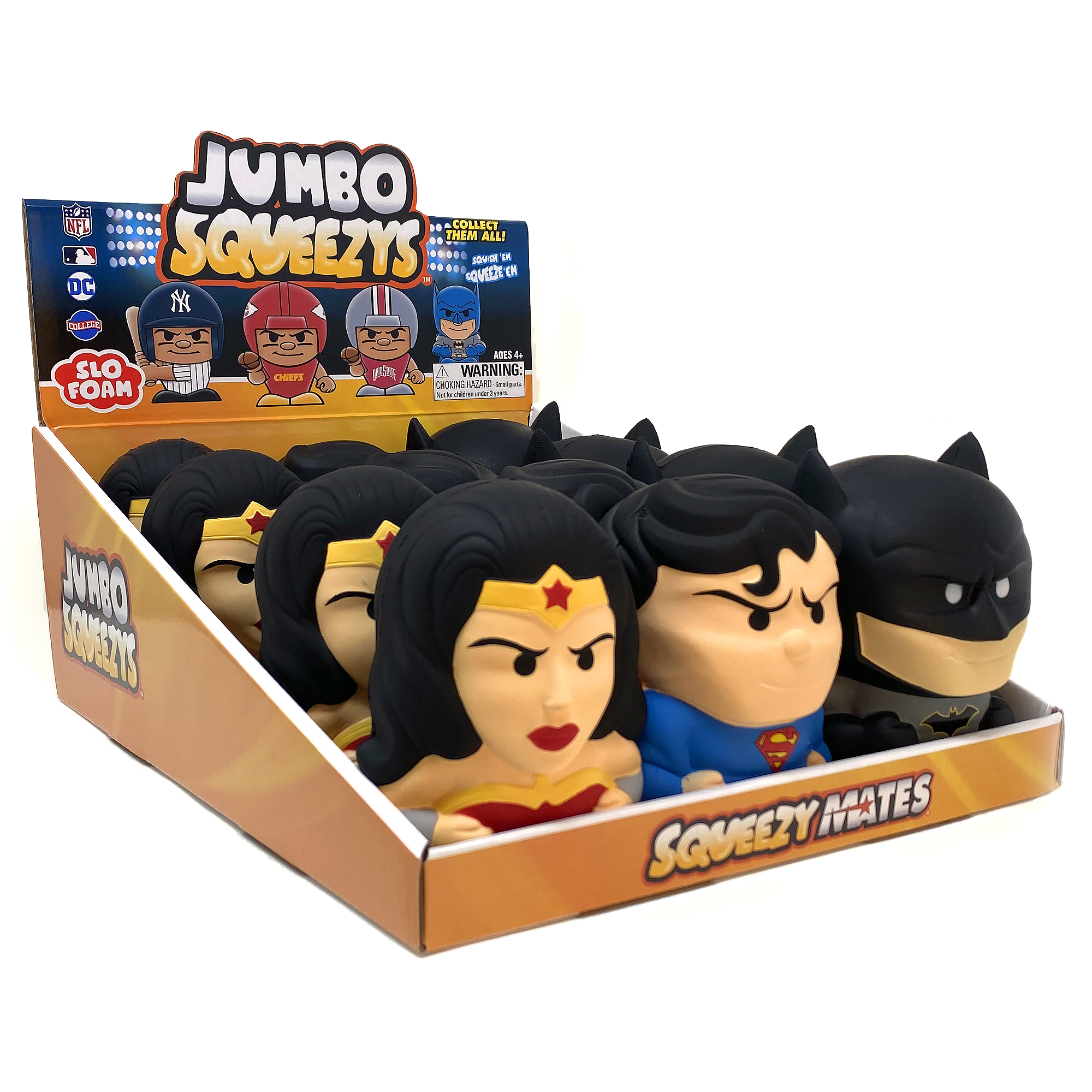 DC Super Hero Jumbo Squeezy 12pc Display
