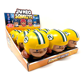 Green Bay Packers Jumbo Squeezy 12pc Display