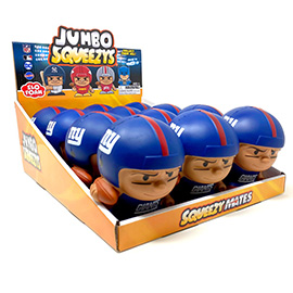 New York Giants Jumbo Squeezy 12pc Display