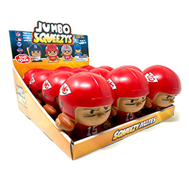Kansas City Chiefs Jumbo Squeezy 12pc Display - Patrick Mahomes
