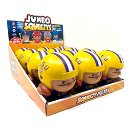 LSU Jumbo Squeezy 12pc Display