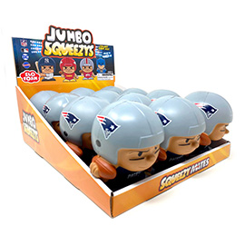 New England Patriots Jumbo Squeezy 12pc Display