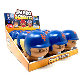 New York Mets Jumbo Squeezy 12pc Display - Pete Alonso