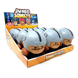 Las Vegas Raiders Jumbo Squeezy 12pc Display