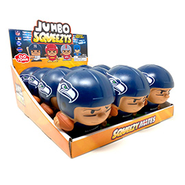Seattle Seahawks Jumbo Squeezy 12pc Display