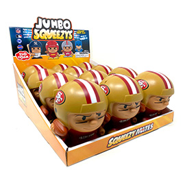 San Francisco 49ers Jumbo Squeezy 12pc Display