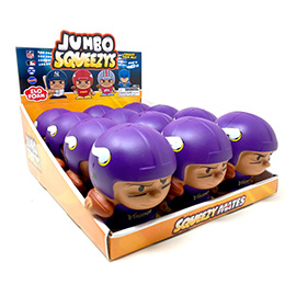 Minnesota Vikings Jumbo Squeezy 12pc Display